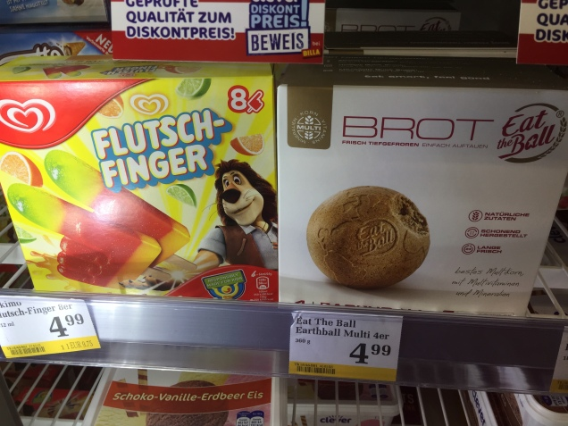 In the freezer section