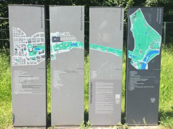 An overview of the Schlossgarden sections; I also biked to a connecting park (across the pedestrian/bike bridge).