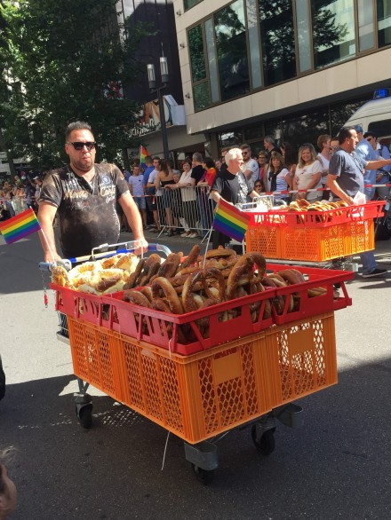 Gotta love Germany - they sold pretzels before the parade started.